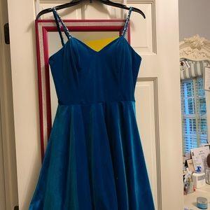 Blush prom homecoming dress